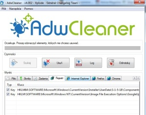 adwcleaner usuwanie zlosliwego oprogramowania