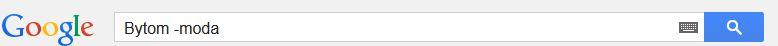 wykluczenie wyszukiwania google