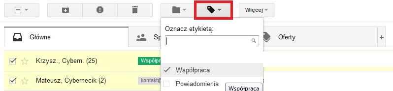 etykiety gmail