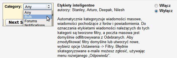 inteligentne etykiety gmail